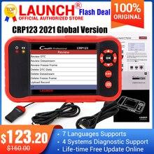 2021 최고 판매 출시 CRP123 업데이트 온라인 출시 X431 Creader CRP123 ABS, SRS, 변속기 및 엔진 코드 스캐너 DHL 무료