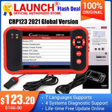 2021 Top selling Launch CRP123 Update Online LAUNCH X431 Creader CRP123 ABS, SRS, Transmission and Engine Code Scanner DHL free