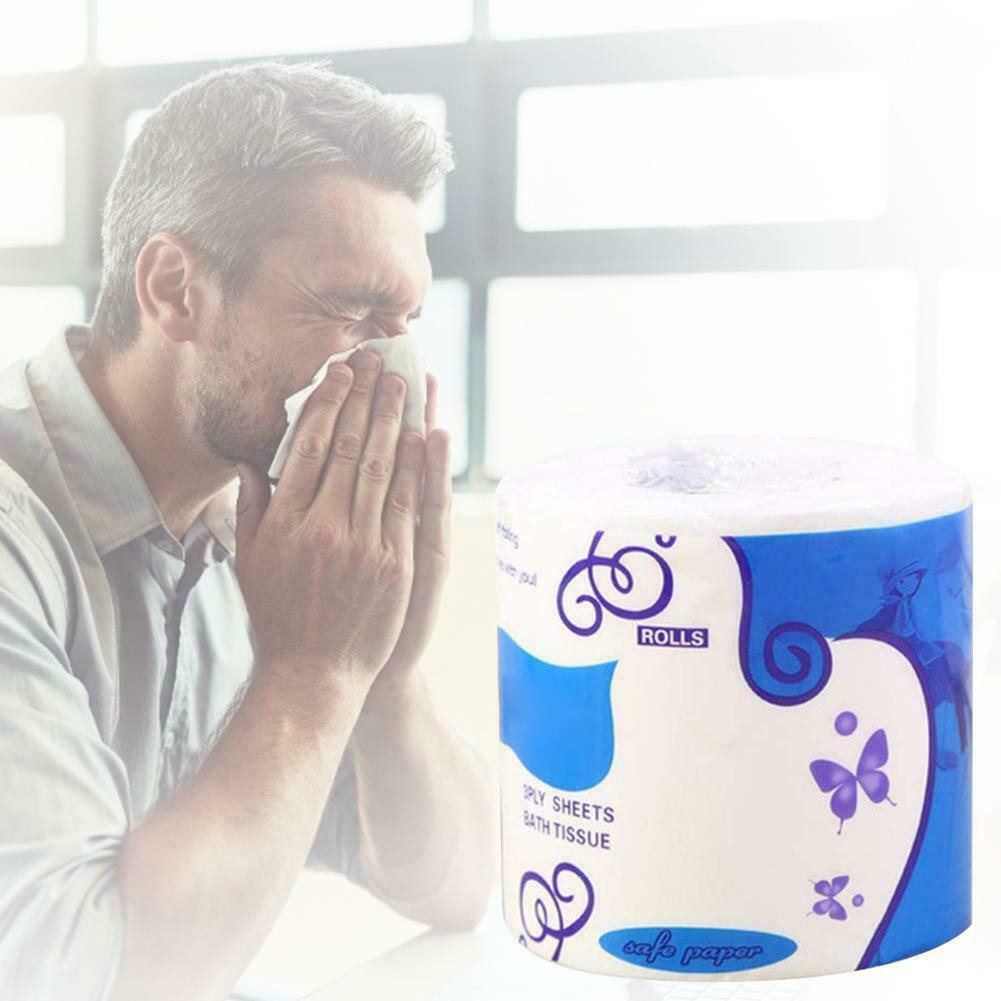 10 Rolls Toilet Paper Bulk Rolls Bath Tissue Bathroom Soft 3 Ply Skin-Friendly Household IK88