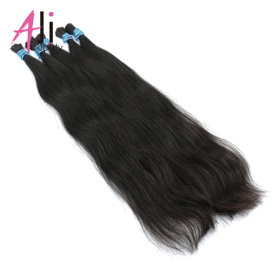 Ali-beauty Human Bulk Hair For Braiding 100g Remy Brazilian Human Braiding Hair Bulk Bundles