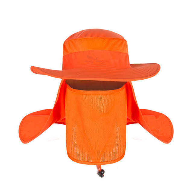 Outdoor Travel Fishing Fisherman Neck Face UV Sun Protection Flap Cap Hat Fisherman Hat Adjustable and Removable Fishing Caps 5
