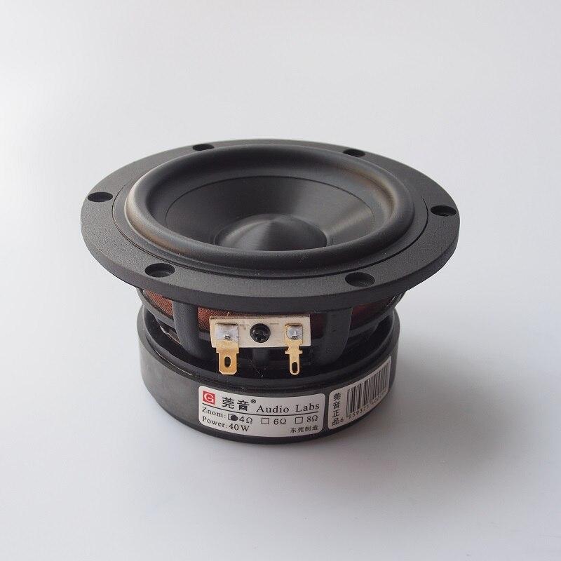 1PCS New Audio Labs 4'' Hifi Midwoofer Speaker Driver Ceramics Mixed Cone Dual Casting Aluminum Frame 4/8ohm Option 50W D120mm
