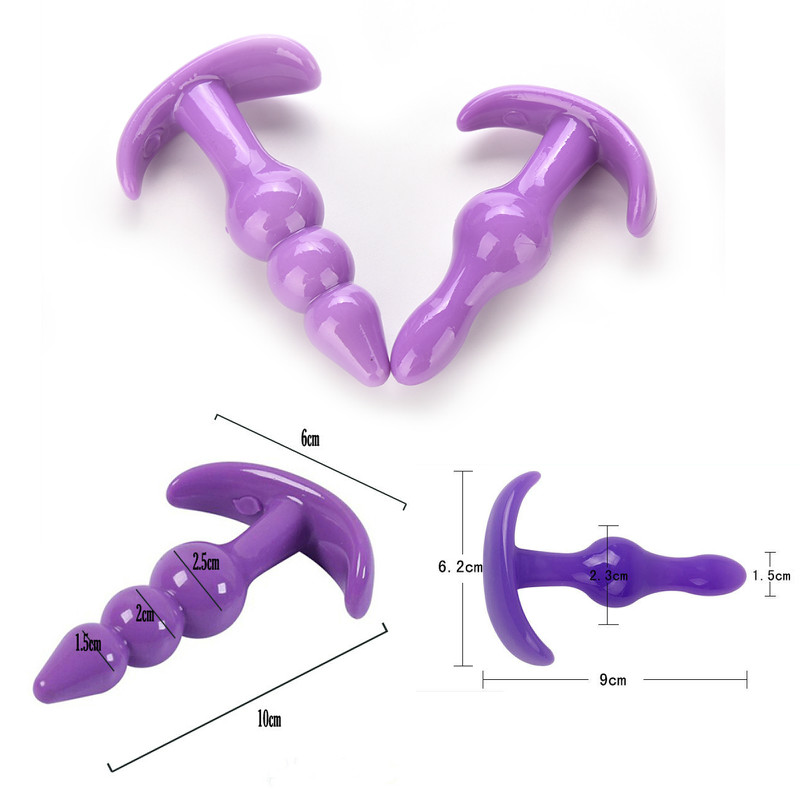 Anal Beads Jelly Anal Plug Butt Plug G-spot Prostate Massager Silicone Adult Sex Toys For Woman Men Gay Erotic Products