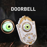 Декор для Хэллоуина светящийся дверной звонок в виде глаза ужасов, игрушка, практичный дом с привидениями, вечерние украшения, дверной звон...