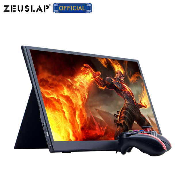 ZEUSLAP 15.6inch USB C HDMI-Compatible 1920*1080P PD HDR Monitor with Earphone port Ultrathin Portable Screen Gaming Monitor 2