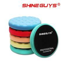 Shine guys 5.5 Polegada (135mm) almofadas de polimento de corte leve/médio/pesado para 5