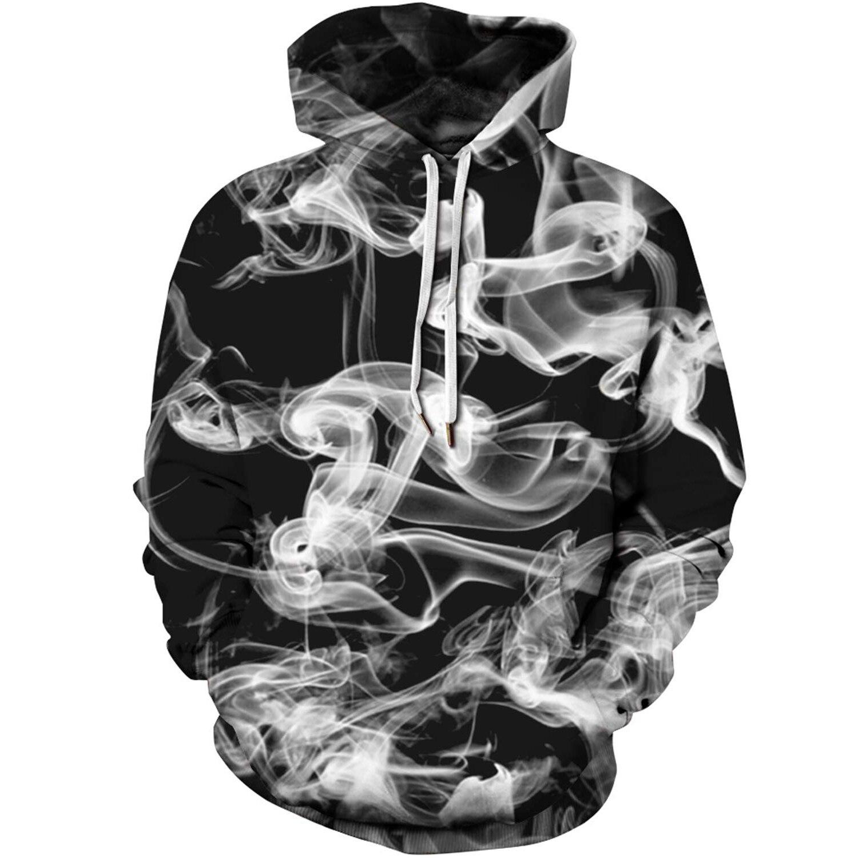 Men's brand hoodie 3D figure smoking and smoke pattern sweatshirts men and women 3D printed smoke cloud hoodies lovers hoodies3D