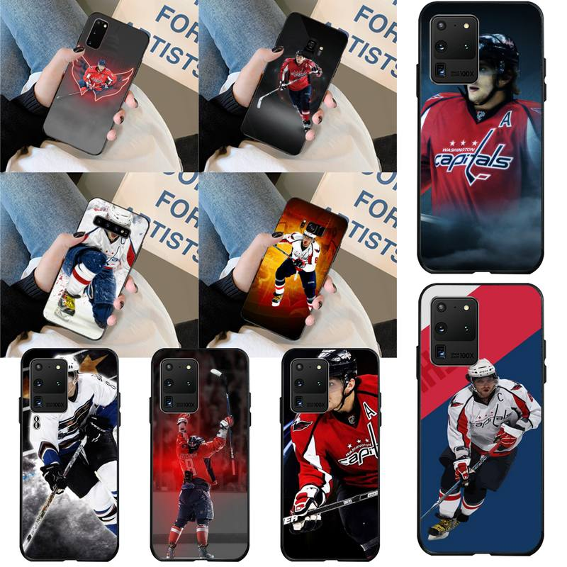 HPCHCJHM Alexander Ovechkin Nhl Star Hockey Soft Phone Case Cover for Samsung S20 plus Ultra S6 S7 edge S8 S9 plus S10 5G(China)