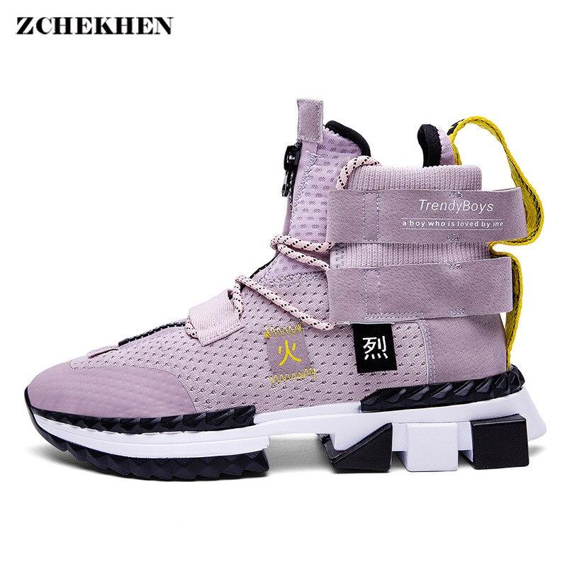 Hip Hop Streetwear grosses baskets hommes haut chaussures décontractées hommes épais bas mode sport Tenis Masculino Adulto baskets
