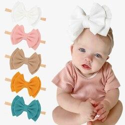 Bebê menina bandana infantil acessórios de cabelo bowknot banda grande bowknot recém-nascido headwear tiara headwrap presente toddlers bandagem fita
