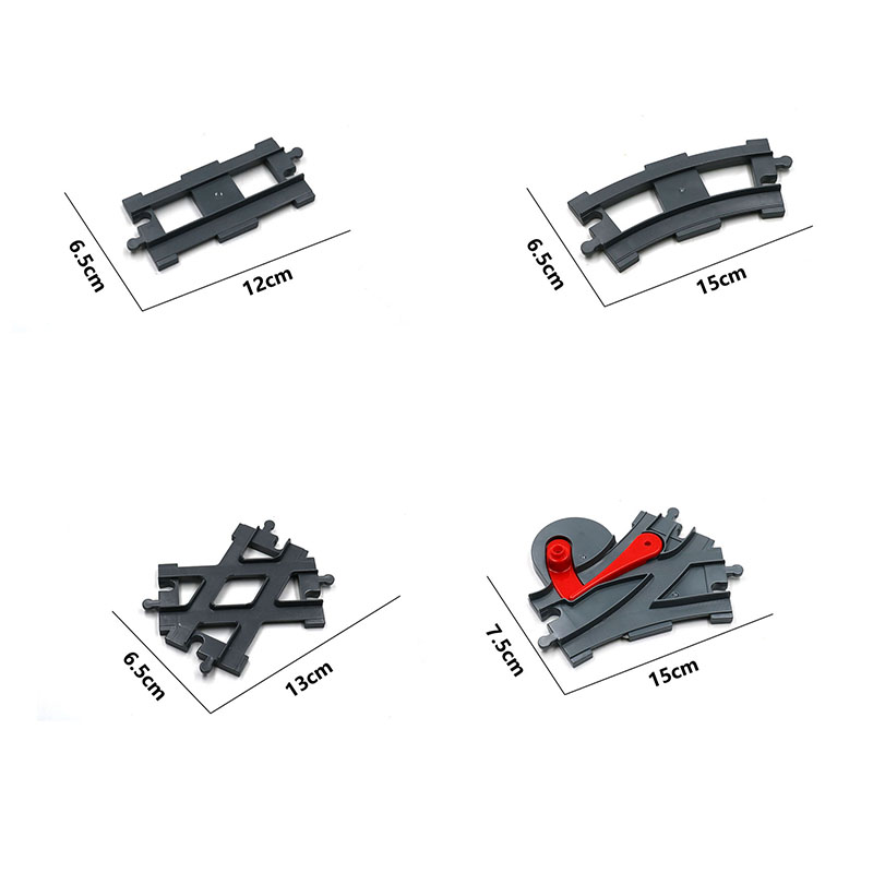 Train Track Large Particle Building Block Accessories Compatible With Duploed  Building Blocks Toys For Girls Boys