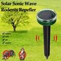 Dreamburgh Maulwurf Ratte Abweisend Solar Ultraschall Pest Repeller Spike Garten Abschreckung Outdoor Ultraschall Pest Repeller Maus Trap