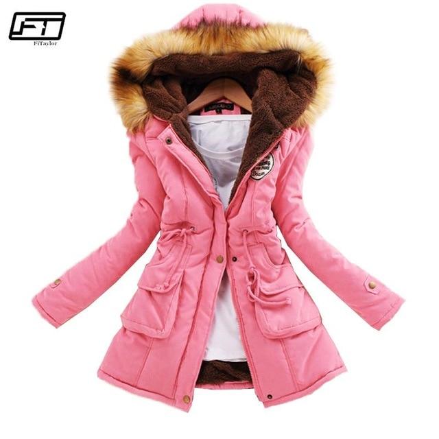 2019 New Parkas Female Women Winter Coat Thickening Cotton Winter Jacket Womens Outwear Parkas for Women