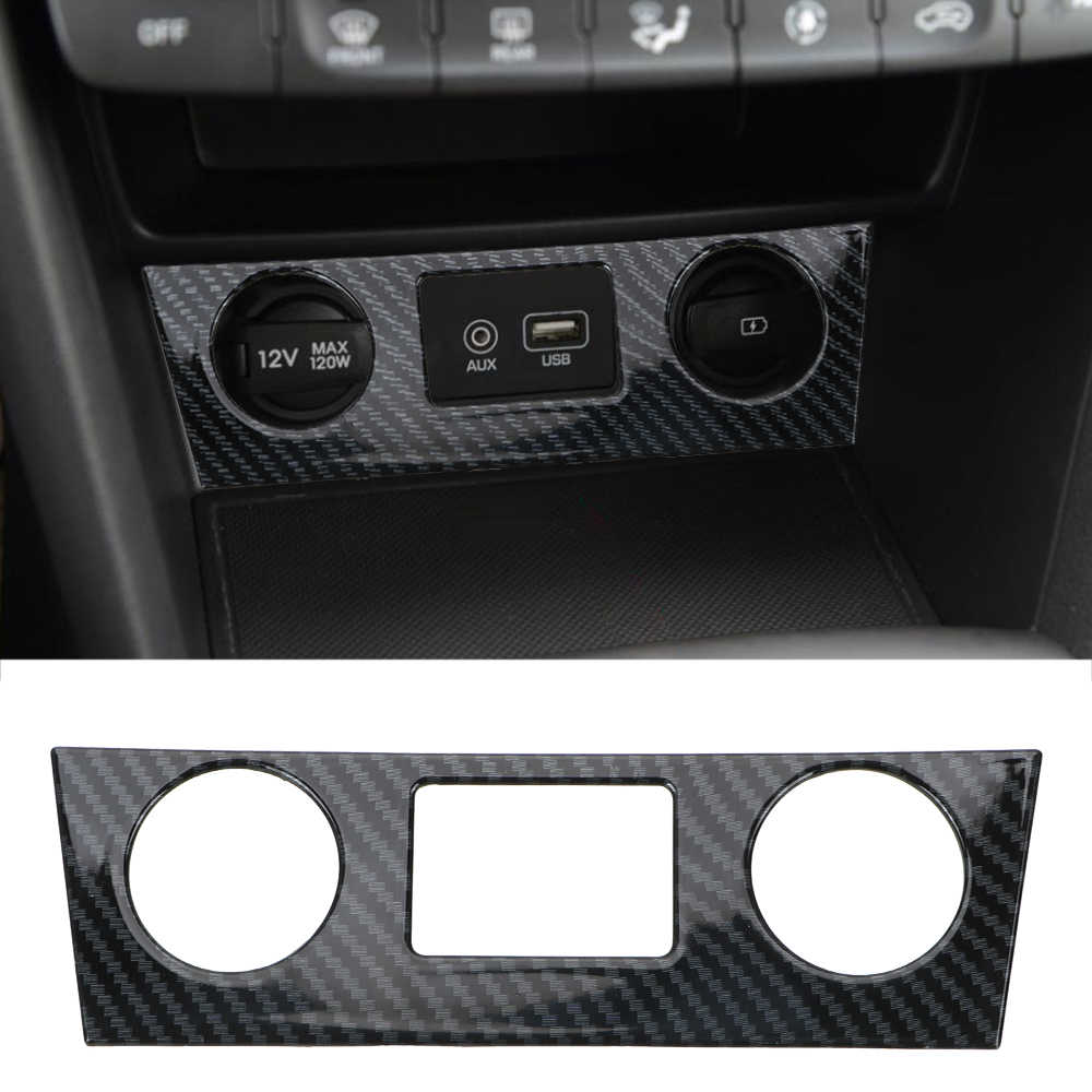 LEEPEE For Hyundai Encino Kauai Kona 2017 2018 2019 2020 SUV Car Styling Console Air Conditioner Button Cover Auto Decoration