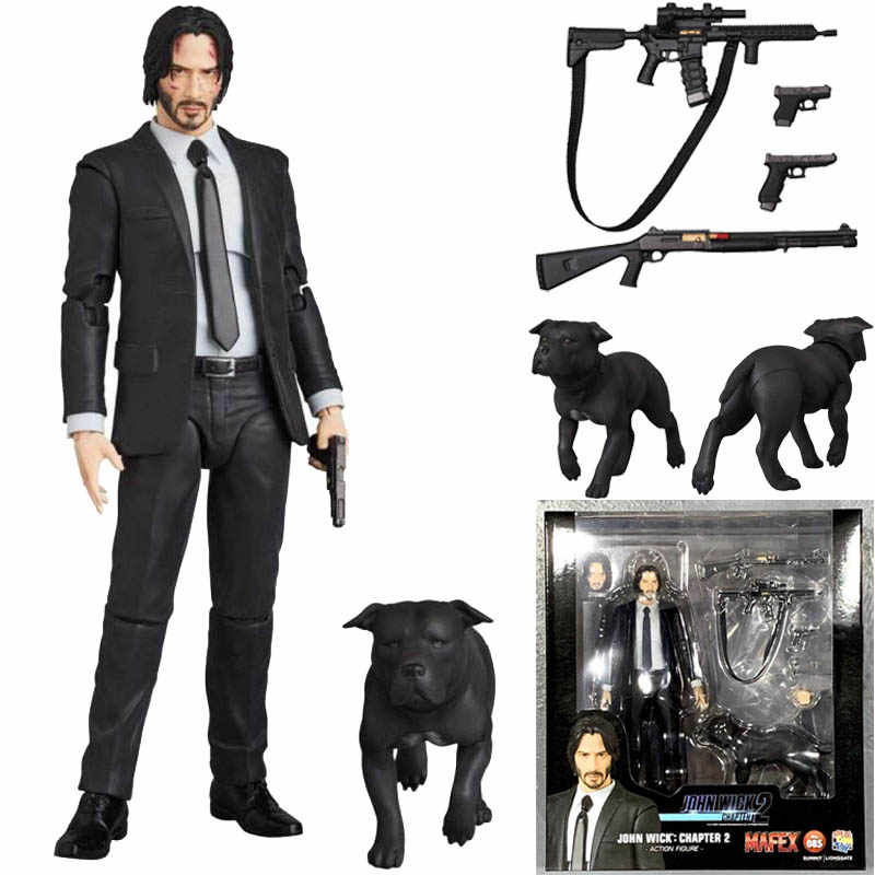 JOHN WICK Action Figure Mafex 085 JOHN WICK Capitolo 2 Action Figure Da Collezione Model Toy