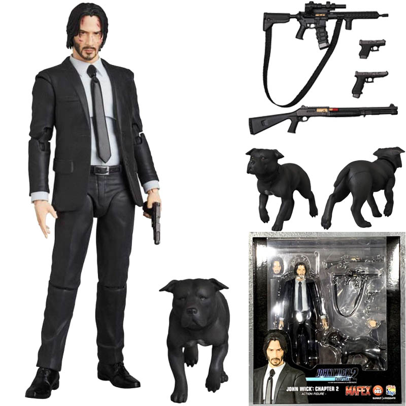 JOHN WICK Action Figure Mafex 085 JOHN WICK Chapter 2 Action Figure Collectible Model Toy