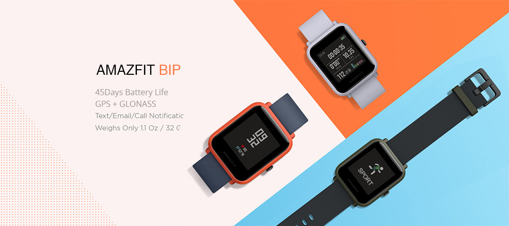 Image 2 - Русский Smart Watch Amazfit Bip Bluetooth GPS Sport Heart Rate Monitor IP68 Call Reminder Mi Fit APP for Xiaomi Cellphone 7 IOS-in Smart Watches from Consumer Electronics