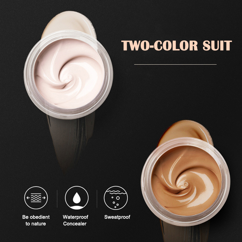 Tattoo Concealer 2-Colored Toned Waterproof Cover Scar Birthmarks Cream Makeup KG66