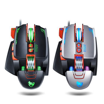 For T-WOLF V9 Gaming Mouse Wired Programmable Breathing Light USB Computer Mice RGB Gamer PC Gaming Mouse, 8 Button for PC