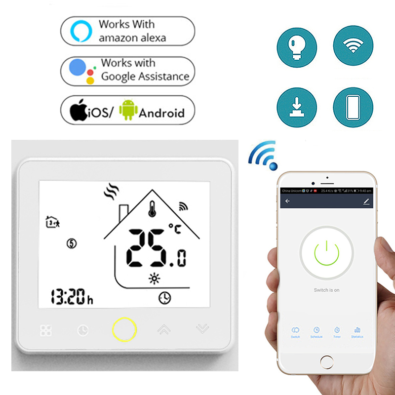 H91227518d1ce48fa85f7dafafe6fcd7fo - Smart Wifi Thermostat for Lamps Fan Water Dispenser Water Heater Electric Pot TV Humidifier Light Boiler Wifi Switch Smart Home