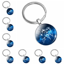 2019 New Starry Sky Fantasy 12 Constellation Pattern Series Glass Convex Round Pendant Necklace Popular Jewelry...