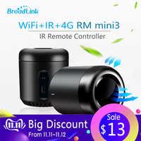2019 plus récent Broadlink RM Mini3 haricot noir Smart Home universel Intelligent WiFi/IR/4G télécommande sans fil par téléphone Intelligent