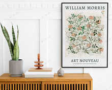 Affiche d'exposition William Morris Art Nouveau, Jasmine, motif de fleur de William Morris, imprimé Floral, décoration de la maison