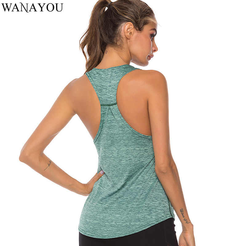 Wanayou Mouwloze Racerback Yoga Vest Atletische Fitness Sport Tank Tops Gym Running Training Yoga Shirts Workout Tops Voor Vrouwen