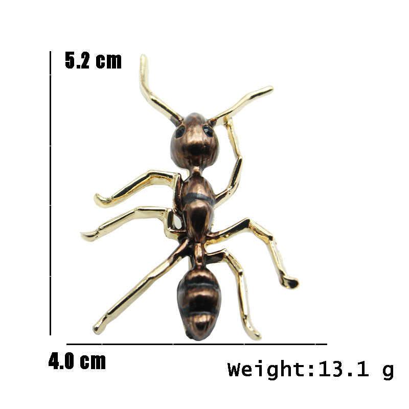 Gli Uomini di Caffè Nero Dello Smalto di RHao ant pins spille animali per le Donne dei monili Cappotto di accessori per bambini formica Vestiti gioielli fibbie regali