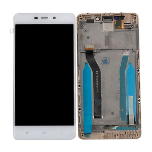 "Image 2 - 5.0 ""מקורי 10 מגע M & סן עבור Xiaomi Redmi 4 ראש ROM 32G LCD מסך תצוגה + מגע פנל digitizer מסגרת עבור Redmi 4 פרו"