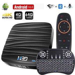 Image 1 - 2020 TV BOX z androidem z systemem Android 10 2.4G 5.8G Wifi odtwarzacz multimedialny 4K 3D wideo 4GB 32GB 64GB RK3318 smart tv box