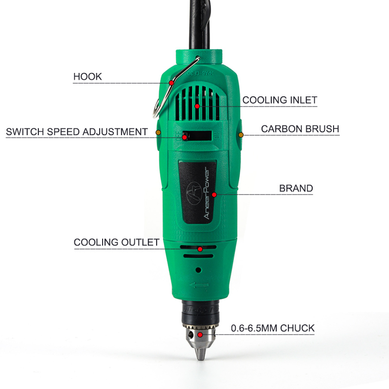 Dremel Drill Amp Style Rotary Sanding  Drilling Electric Grinder Machine Jewelry Polishing 260W Engraving  New Mini DIY Shaping Tool