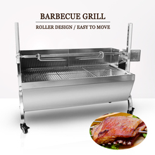 Electric Automatic Rotisserie Spit Roaster Grill Manual Spinning Charcoal Kebab Bake Grill Stove Trolley Lamp Cooker with Motor stainless steel bbq grill rotating motor pig lamb goat chicken charcoal barbecue grill roaster spit rotisserie electric motor