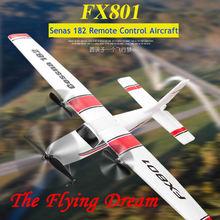 DIY Радиоуправляемый игрушечный самолёт с дистанционным управлением планер FX-801 радиоуправляемый самолет Cessna 182 DIY EPP пенопластовый Электрический открытый самолет с фиксированным крылом