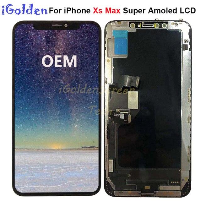 6.5 עבור iPhone Xs מקסימום LCD החלפת תצוגת LCD עם מסך מגע Digitizer עצרת עבור iphone X S מקסימום lcd