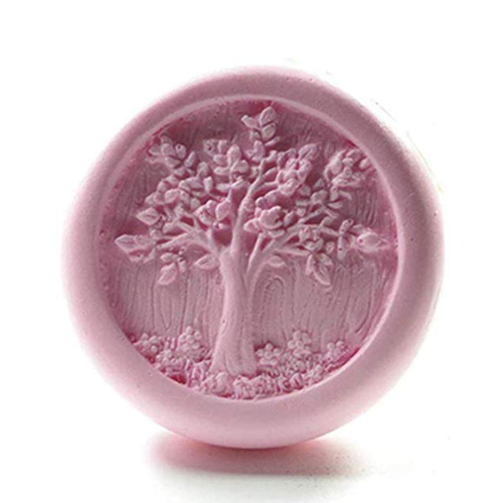 Life Tree Design Natural Soap Mold Scented Candle Wax Melt Mold Aroma Gypsum Craft Silicone Mold