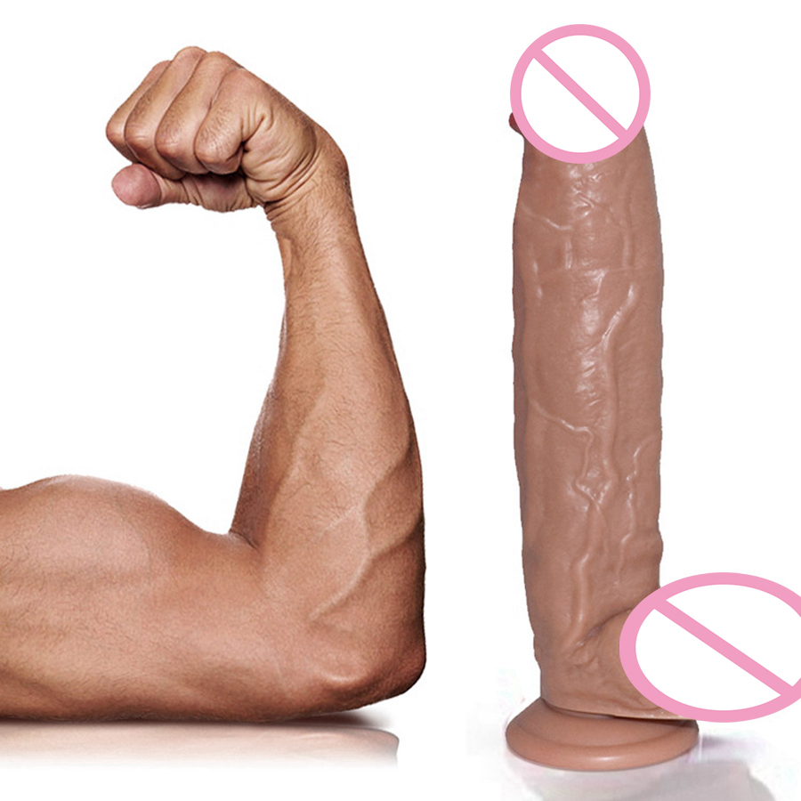 Huge Transparent Dildos Realistic Dick Sex Toys Female Masturbator Strong Suction Cup G Spot Vaginal Stimulator Dildo For Women in Dildos from Beauty Health