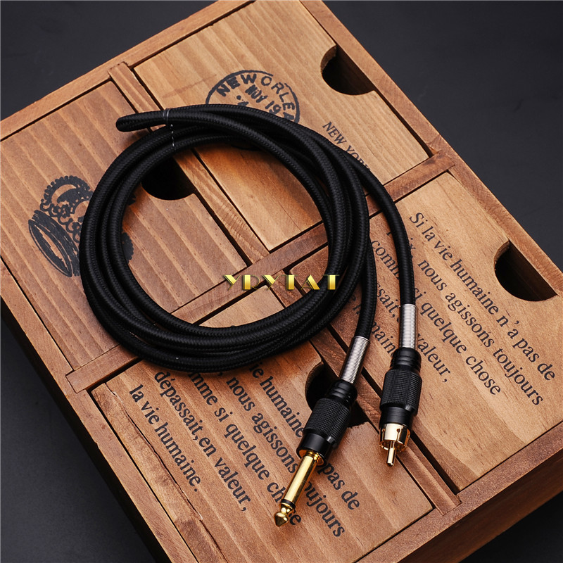 New Hot RCA Interface Cable Tattoo Clip Cord Hook Line For Tattoo Machine Makeup Power Cord Supply - You Pick Color