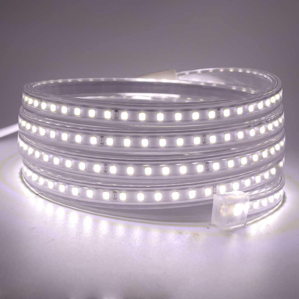 Lampu Led Strip 220V 240V SMD 2835 Tahan Air Fleksibel Pita Led 120Led/M Cahaya Dingin putih/Natural White/Warm Tidak Ada Timbal