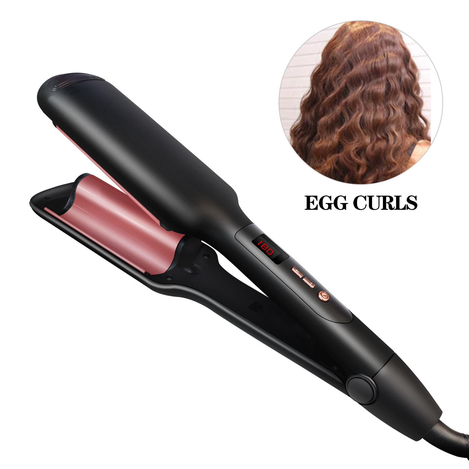 Curling Tongs Wand Deep Waver For Beachy Waves Professional Curling Iron Tourmaline Deep Waver Styling Tools Hair Curlers