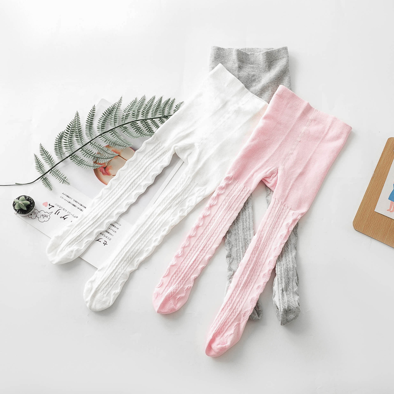 0-6 Yrs Cotton Breathable Pantyhose For Toddler Girls Spring Summer Autumn Cute Baby Girls Mesh Cable Knit Tights For Children