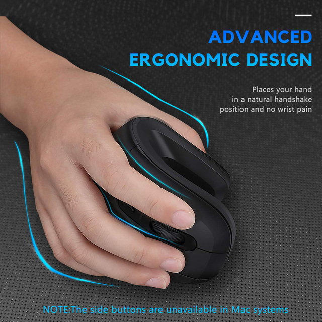 DAREU Magic Ergonomic Vertical Wireless Mouse Bluetooth 4.0+2.4Ghz Dual mode skin Gaming Mice with 3D scroll wheel For Computer 2