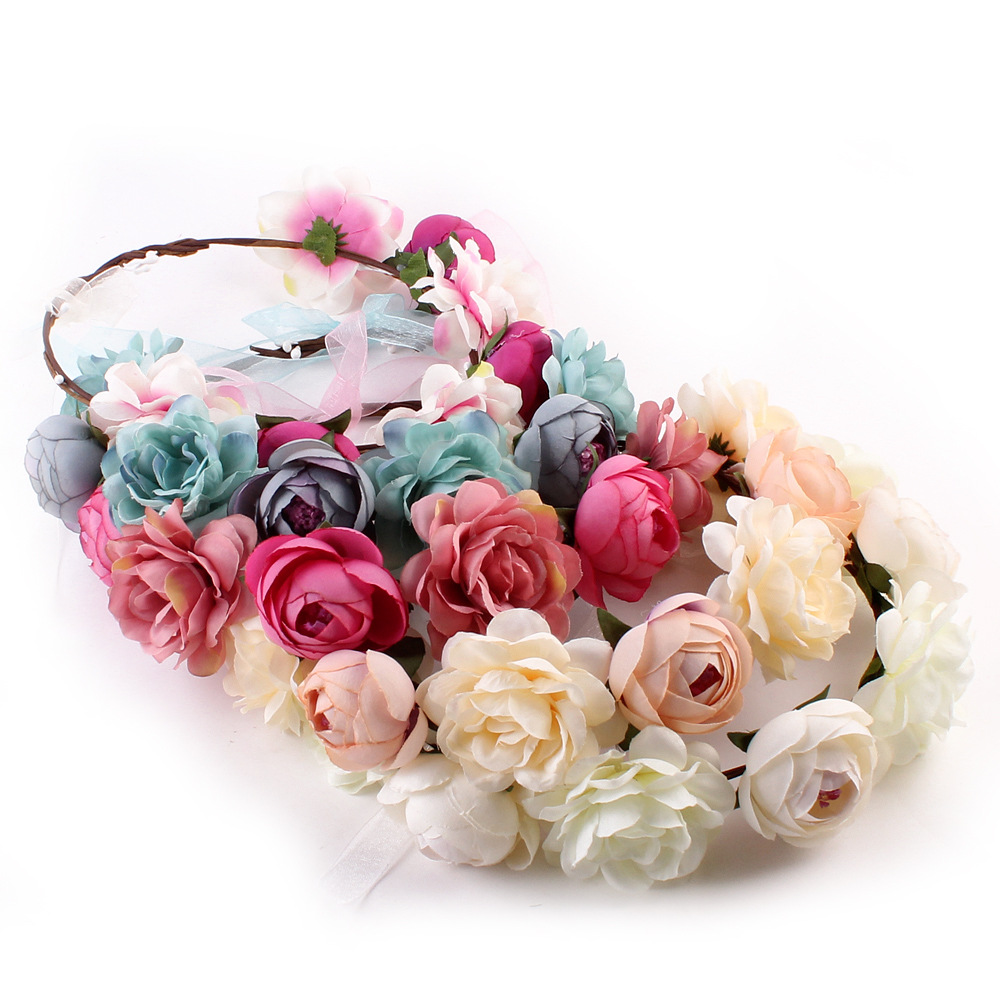 Bride Team Flowers Artificial Band Bachelor Party Wedding Favors and Gifts Fake Artificial Flowers for Wedding Decorations,Q thumbnail