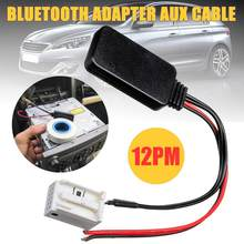 Fit für Peugeot 207 307 407 308 für Citroen C2 C3 RD4 Auto 12Pin bluetooth Modul Wireless Radio Stereo AUX-IN aux Kabel Adapter(China)