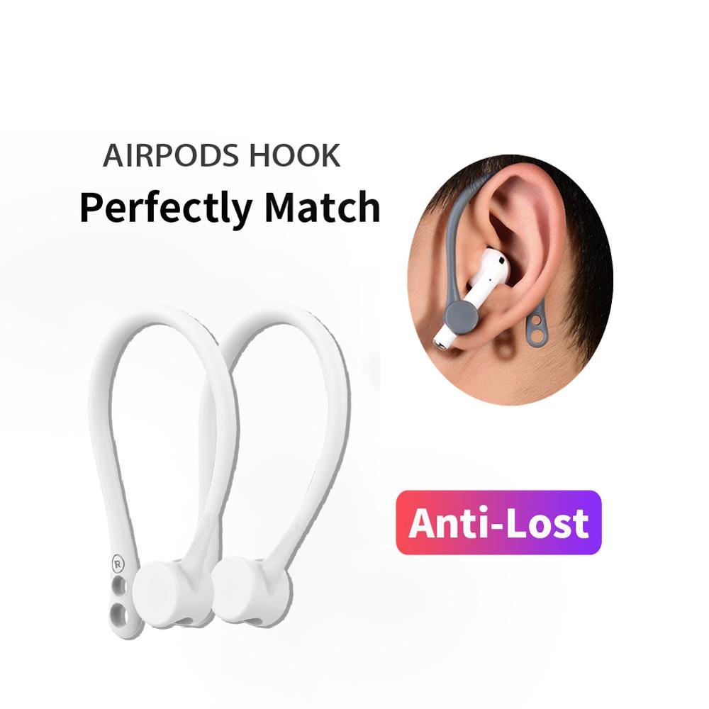 Protecție AirPods cârlig de silicon bluetooth fără fir titularul - Audio și video portabile