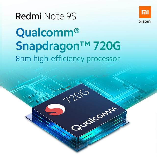 Xiaomi Redmi Note 9S 6GB 128GB Global Version Smartphone Note 9 S Snapdragon 720G Octa core 5020mAh 48MP QuadCamera mobile phone 5