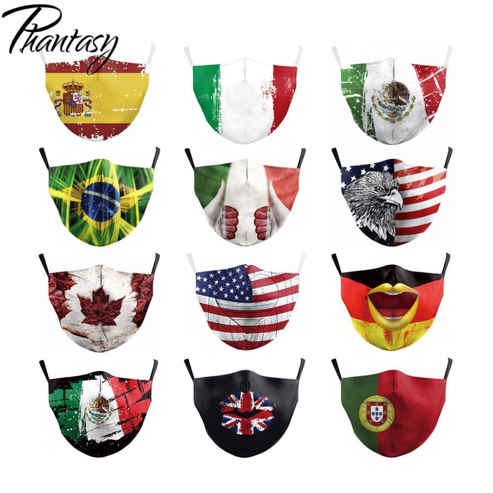 Phantasy Face Shield Wind Proof Mouth Cover National Flag Anti Dust Face Mask Windproof Mouth-muffle Mask Drop Shipping