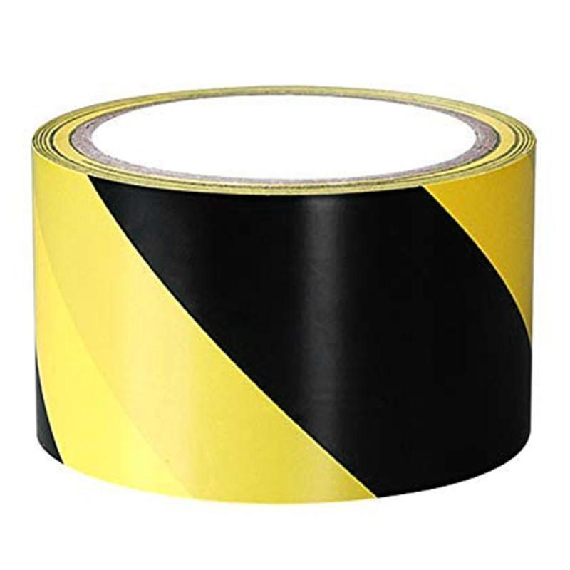 Adhesive Tape Safety Warning Tape Black Yellow Workplace 1 Roll PVC Adhesive Sticker 7cmx20m