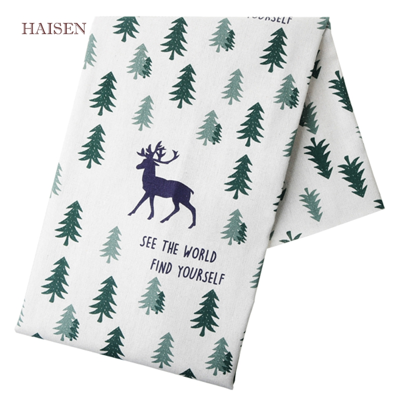 Printed Cotton Linen Fabric Pattern Cloth For DIY Hometextile Sewing&Quilting Furniture Cover Sofa Bag Material,<font><b>50</b></font> x150cm HAISEN image