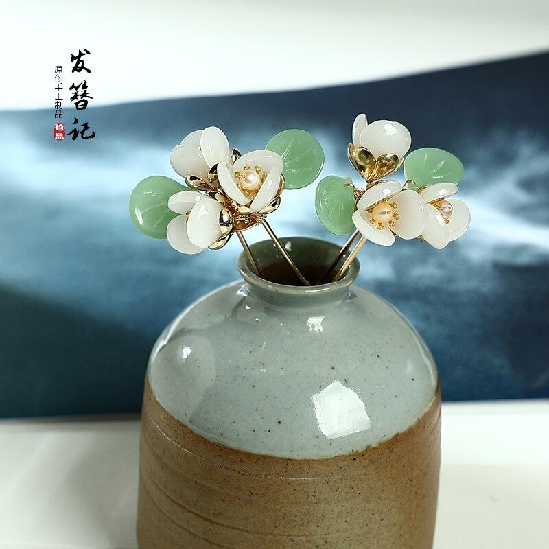 Handmade Hairpin Headdress Classical-Style Hair Accessories Chinese Cheongsam Accessories Hipster Flower Hair Accessories Women